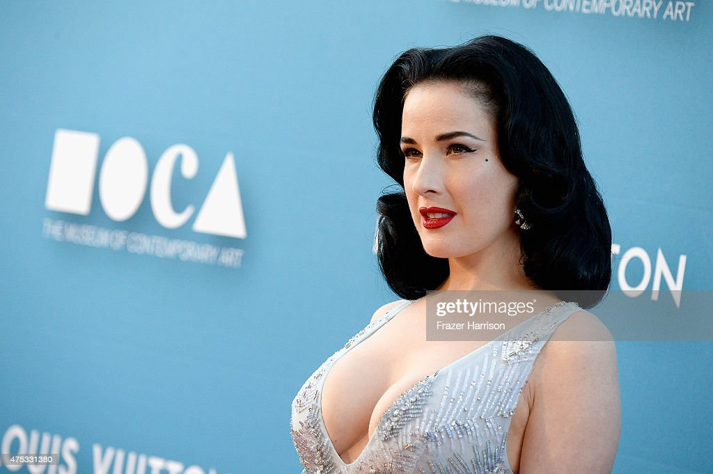 Dita Von Teese attends the 2015 MOCA Gala presented by Louis Vuitton at The Geffen Contemporary at MOCA on May 30, 2015 in Los Angeles, California. (Photo by Donato Sardella/WireImage for The Museum Of Contemporary Art, Los Angeles (MOCA))