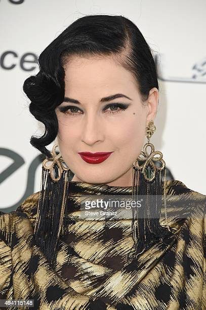 Dita Von Teese attends the 25th annual EMA Awards presented by Toyota and Lexus and hosted by the Environmental Media Association at Warner Bros...
