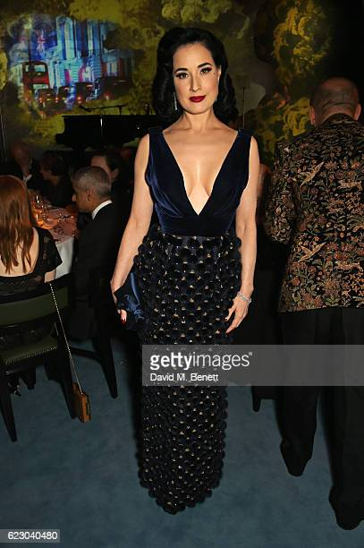 Dita Von Teese attends the 62nd London Evening Standard Theatre Awards recognising excellence from across the world of theatre and beyond at The Old...