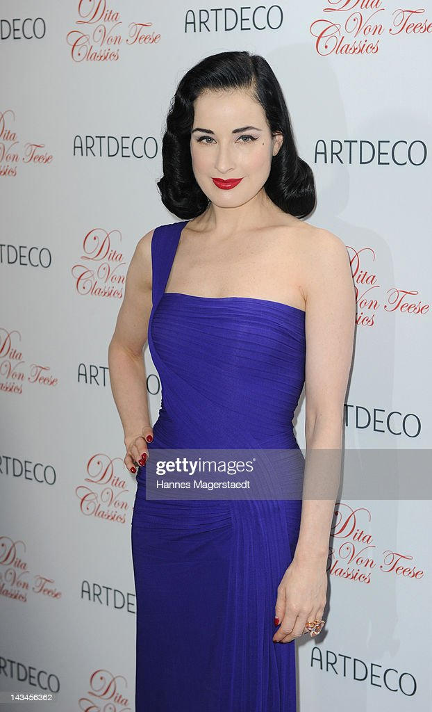<a gi-track='captionPersonalityLinkClicked' href=/galleries/search?phrase=Dita+Von+Teese&family=editorial&specificpeople=210578 ng-click='$event.stopPropagation()'>Dita Von Teese</a> attends the ARTDECO Art Couture Collection at Bayerischer Hof on April 26, 2012 in Munich, Germany.