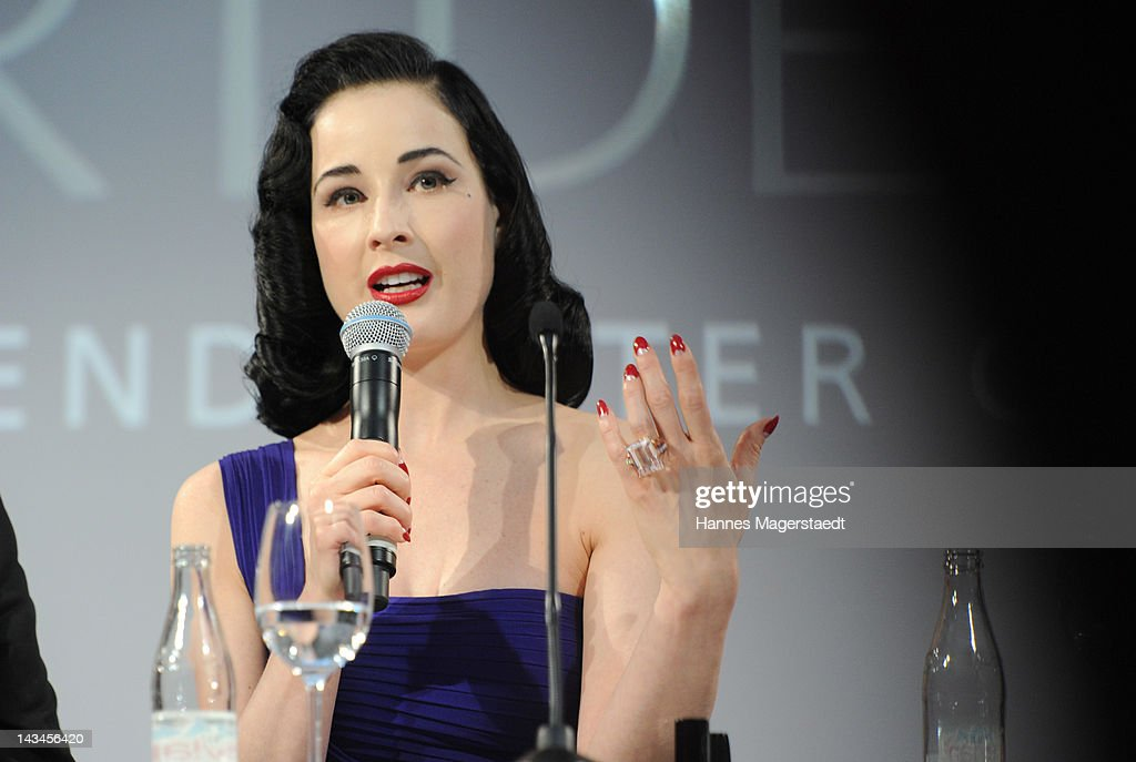 Dita Von Teese attends the ARTDECO Art Couture Collection at Bayerischer Hof on April 26, 2012 in Munich, Germany.