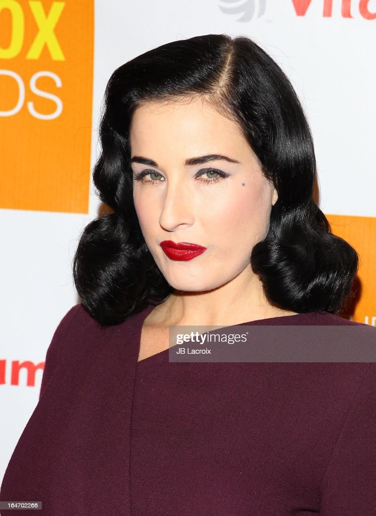 <a gi-track='captionPersonalityLinkClicked' href=/galleries/search?phrase=Dita+Von+Teese&family=editorial&specificpeople=210578 ng-click='$event.stopPropagation()'>Dita Von Teese</a> attends the book launch party for 'The Beauty Detox Foods' at Smashbox West Hollywood on March 26, 2013 in West Hollywood, California.