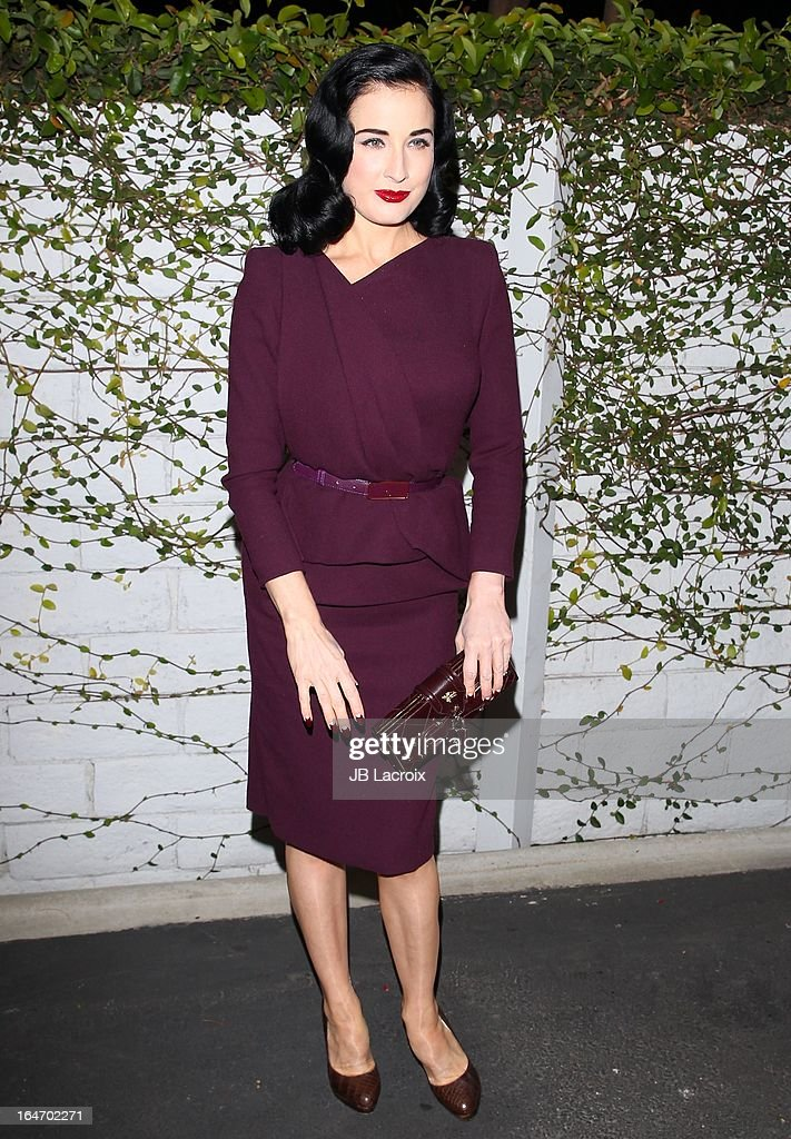 Dita Von Teese attends the book launch party for 'The Beauty Detox Foods' at Smashbox West Hollywood on March 26, 2013 in West Hollywood, California.