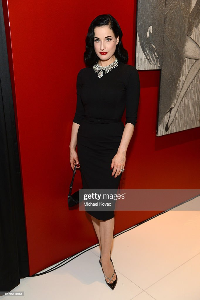 <a gi-track='captionPersonalityLinkClicked' href=/galleries/search?phrase=Dita+Von+Teese&family=editorial&specificpeople=210578 ng-click='$event.stopPropagation()'>Dita Von Teese</a> attends the BritWeek Christopher Guy event with official vehicle sponsor Jaguar on April 26, 2013 in Los Angeles, California.
