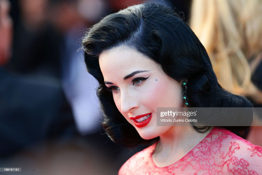 Dita Von Teese attends the 'Cleopatra' Premiere during the 66th Annual Cannes Film Festival at Grand Theatre Lumiere on May 21, 2013 in Cannes, France.