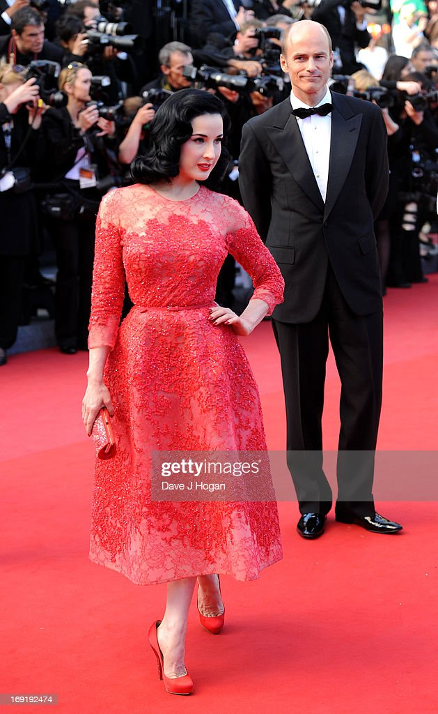 Dita Von Teese attends the 'Cleopatra' premiere during The 66th Annual Cannes Film Festival at The 60th Anniversary Theatre on May 21 2013 in Cannes...