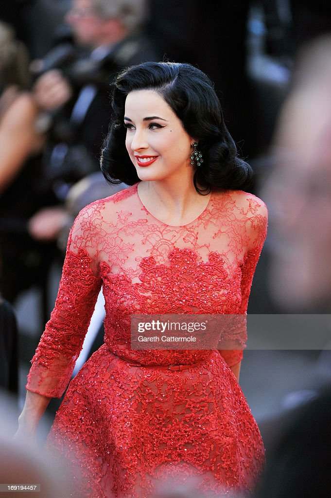 Dita Von Teese attends the 'Cleopatra' premiere during The 66th Annual Cannes Film Festival at The 60th Anniversary Theatre on May 21, 2013 in Cannes, France.