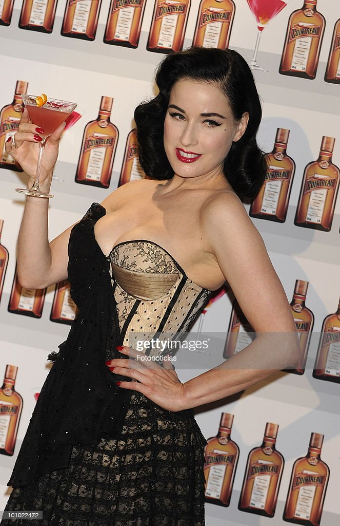 Dita Von Teese attends the 'Cointreau' photocall at the ME Hotel on May 27, 2010 in Madrid, Spain.
