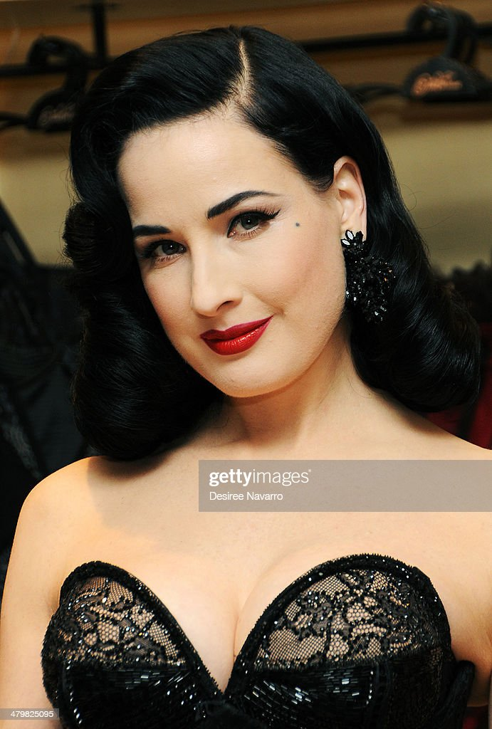 Dita Von Teese attends the Dita Von Teese Lingerie Collection Launch at Bloomingdale's 59th Street Store on March 20, 2014 in New York City.