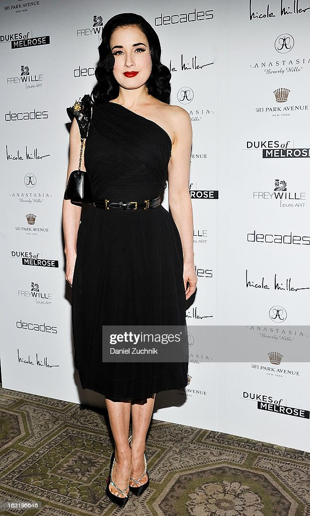 Dita Von Teese attends the 'Dukes Of Melrose' Premiere at 583 Park Avenue on March 5, 2013 in New York City.