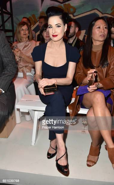 Dita Von Teese attends the Hermes Dwtwn Men s/s17 Runway Show on March 9 2017 in Los Angeles California