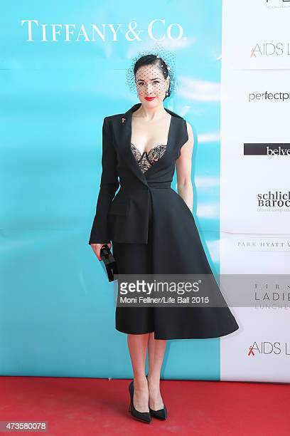 Dita Von Teese attends the Life Ball 2015 first ladies lunch at Belvedere Palace on May 16 2015 in Vienna Austria The Life Ball an annual charity...