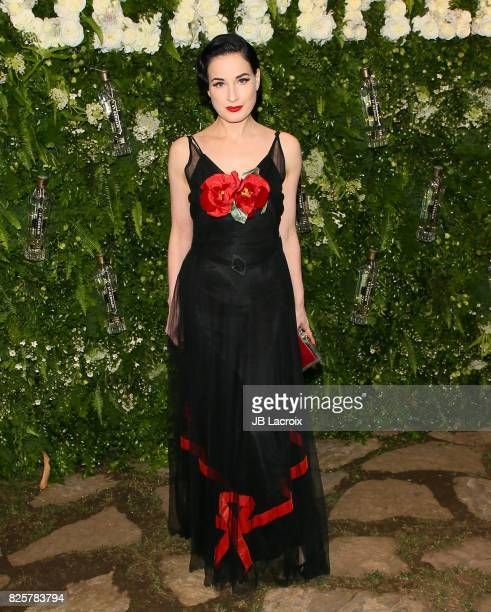Dita Von Teese attends the Maison StGermain LA Debut hosted by Lily Kwong on August 02 2017 in Los Angeles California
