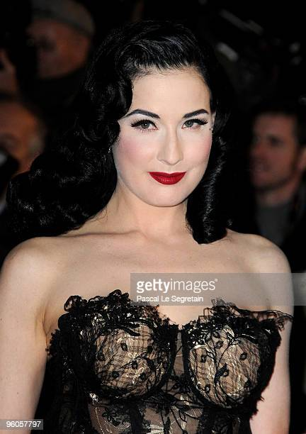 Dita Von Teese attends the NRJ Music Awards 2010 at Palais des Festivals on January 23 2010 in Cannes France