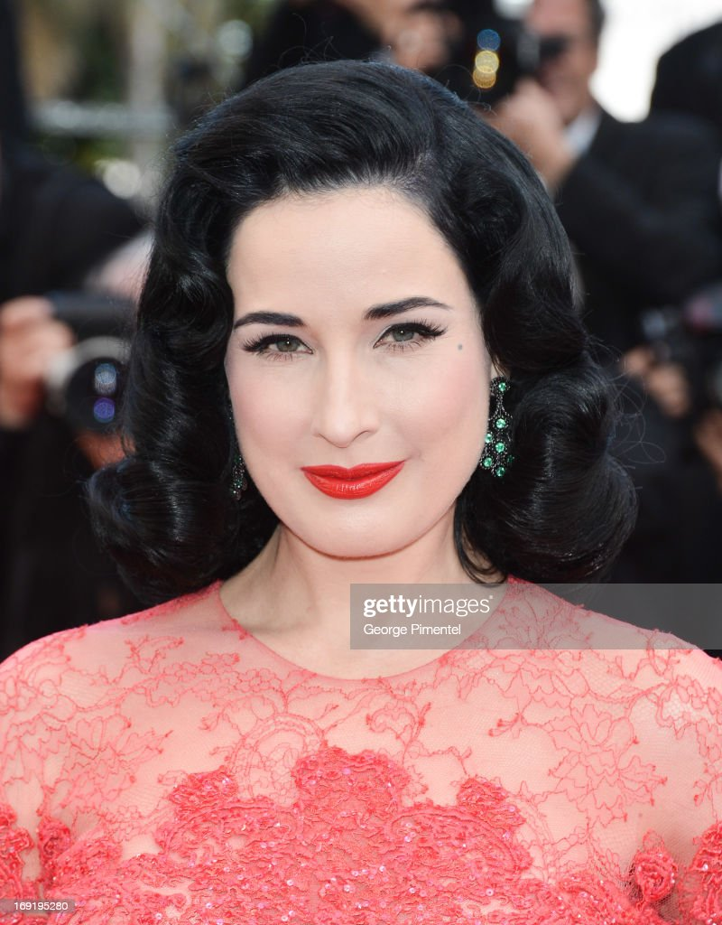 Dita Von Teese attends the Premiere of 'Cleopatra' at The 66th Annual Cannes Film Festivalon May 21, 2013 in Cannes, France.