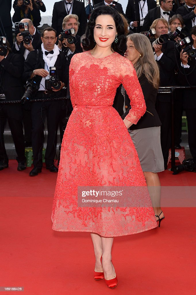Dita Von Teese attends the Premiere of 'Cleopatra' during the 66th Annual Cannes Film Festival at the Palais des Festivals on May 21, 2013 in Cannes, France.
