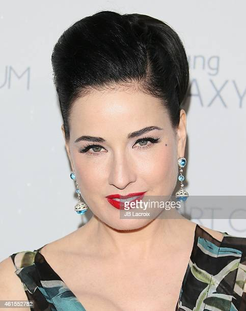 Dita Von Teese attends the The Art Of Elysium 8th Annual Heaven Gala at Hangar 8 on January 10 2015 in Santa Monica California