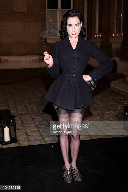 Dita von Teese attends the Vogue 90th Anniversary Party as part of Ready to Wear Spring/Summer 2011 Paris Fashion Week at Hotel Pozzo di Borgo on...