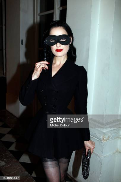 Dita von Teese attends Vogue 90th Anniversary Party as part of Ready to Wear Spring/Summer 2011 Paris Fashion Week at Hotel Pozzo di Borgo on...
