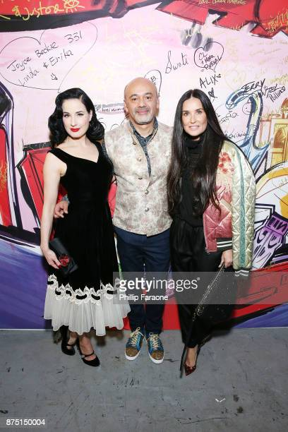 Dita Von Teese Christian Louboutin and Demi Moore attend Christian Louboutin and Sabyasachi Unveil Capsule Collection at Just One Eye on November 16...