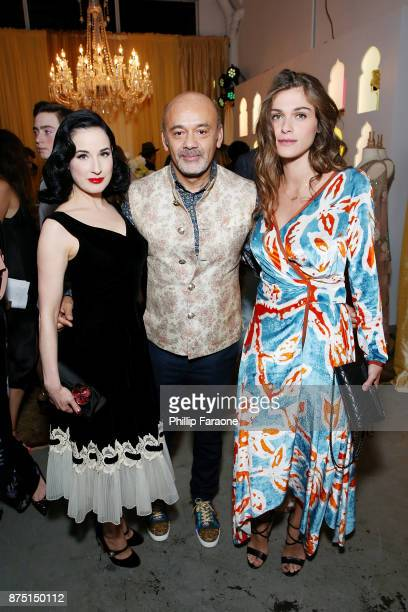 Dita Von Teese Christian Louboutin and Elisa Sednaoui attend Christian Louboutin and Sabyasachi Unveil Capsule Collection at Just One Eye on November...
