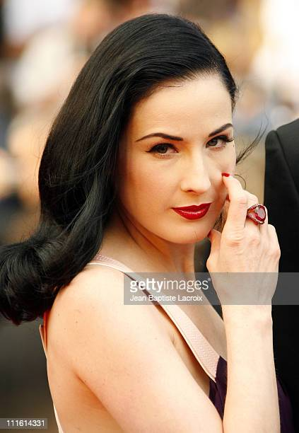 Dita Von Teese during 2006 Cannes Film Festival 'Selon Charlie' Premiere at Palais du Festival in Cannes France