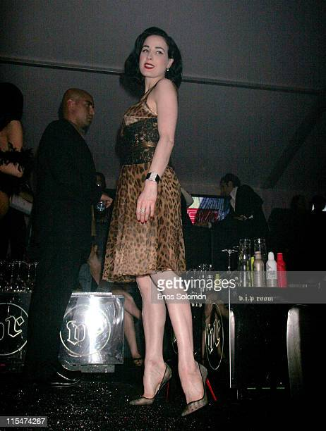 Dita Von Teese during 2007 Cannes Film Festival Sightings Day 6 in Cannes Cote D'Azure France