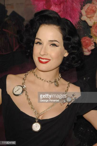 Dita Von Teese during 2007 Fashion Cares in Toronto Canada at Distillery Historic District in Toronto Ontario Canada