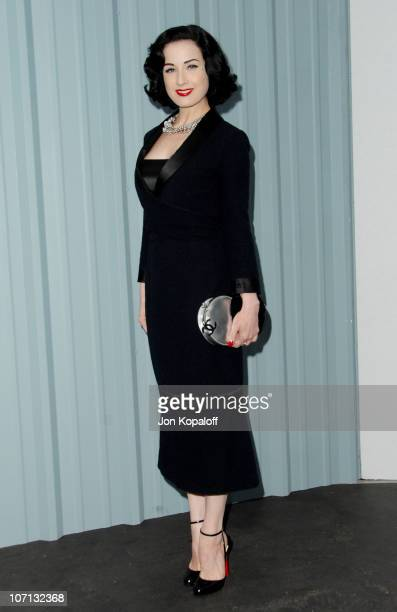 Dita Von Teese during 2007/2008 Chanel Cruise Show Presented by Karl Lagerfeld at Hangar 8 in Santa Monica California United States