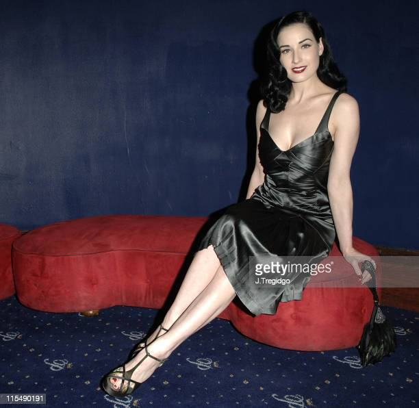 Dita Von Teese during Cafe de Paris 80th Birthday Party Inside at Cafe de Paris in London Great Britain