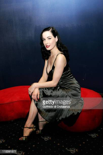 Dita Von Teese during Cafe de Paris 80th Birthday with Dita Von Teese at Cafe de Paris in London United Kingdom