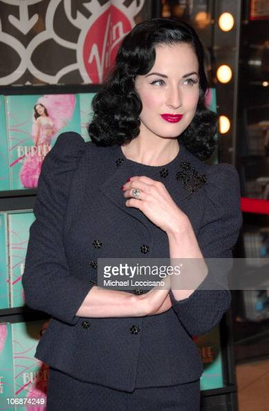 dita von teese during dita von teese signs her book 39 burlesque and the