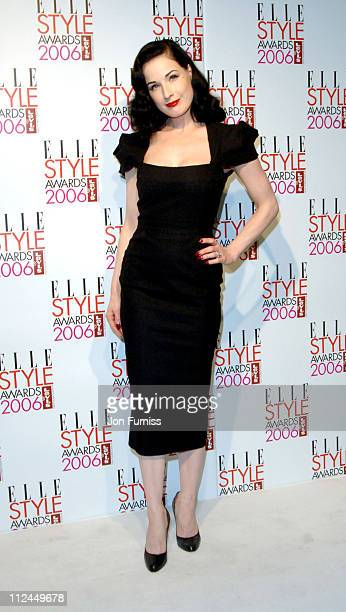 Dita Von Teese during Elle Style Awards 2006 Press Room at Old Truman Brewery in London Great Britain
