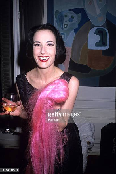 Dita von Teese during Ellen Von Unwerth and Bridget Yorke's Wig Party at Bridget Yorke's Flat in Paris France