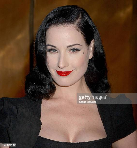 Dita Von Teese during Harry Winston Celebrates The Opening Of Their New Beverly Hills Flagship Store Arrivals at Harry Winston in Beverly Hills...