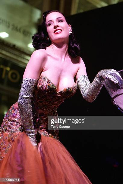 Dita Von Teese during Harvey Nichols Leeds 10th Anniversary Party at Harvey Nichols in Leeds Great Britain