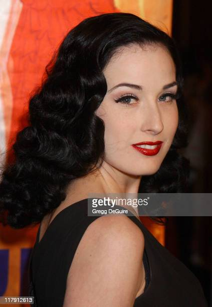 Dita Von Teese during Hugh Hefner and Playboy Host Playboy's Fourth Annual Super Saturday Night Arrivals at The House of Hospitality in San Diego...