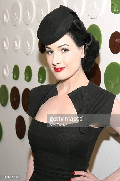 Dita von Teese during LACE 27th Annual Benefit Art Auction 'Flourish' at Los Angeles Contemporary Exhibition in Los Angeles California United States