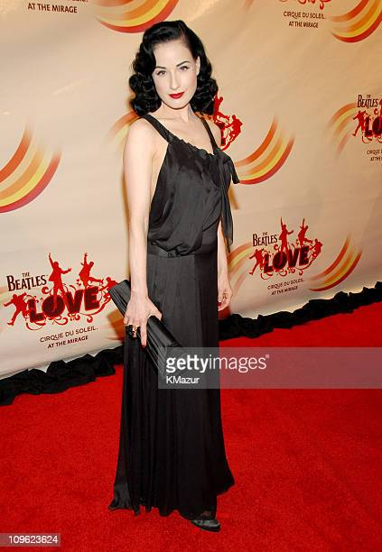 Dita Von Teese during 'LOVE' Cirque du Soleil Celebrates the Musical Legacy of The Beatles Red Carpet at The Mirage Hotel and Casino in Las Vegas...