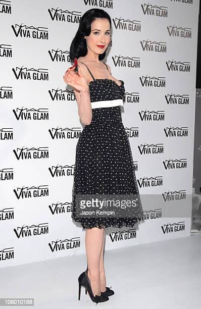 Dita Von Teese during MAC Cosmetics And Viva Glam VI Press Conference at Rainbow Room in New York City New York United States