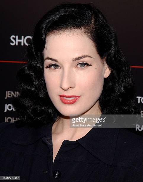 Dita Von Teese during MercedesBenz Fall 2004 Fashion Week at Smashbox Studios Day 4 Arrivals at Smashbox Studios in Culver City California United...