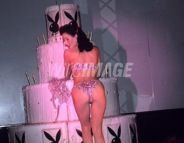 Dita Von Teese During Playboy Hugh Hefners 80th Birthday Party At