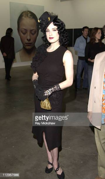 Dita Von Teese during The Jason Lee Foundation for the Arts and Smirnoff Ice Present Gottfried Helnwein at Helnwein Studio in Los Angeles California...