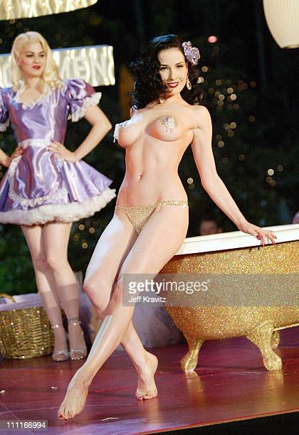 Dita Von Teese during The Official Launch Party For Spike TV At The Playboy Mansion Inside at The Playboy Mansion in Bel Air California United States