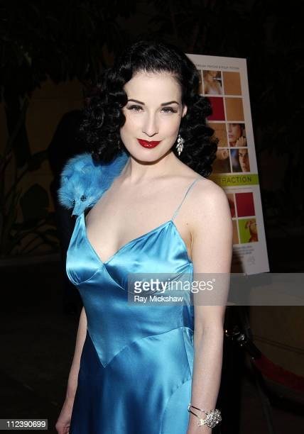 Dita Von Teese during 'The Rules of Attraction' Premiere Arrivals at The Egyptian Theatre in Hollywood California United States