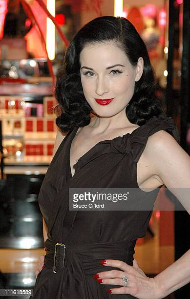 Dita Von Teese during Victoria Secret's Las Vegas Flagship Store Anniversary at Caesars Palace in Las Vegas Nevada United States