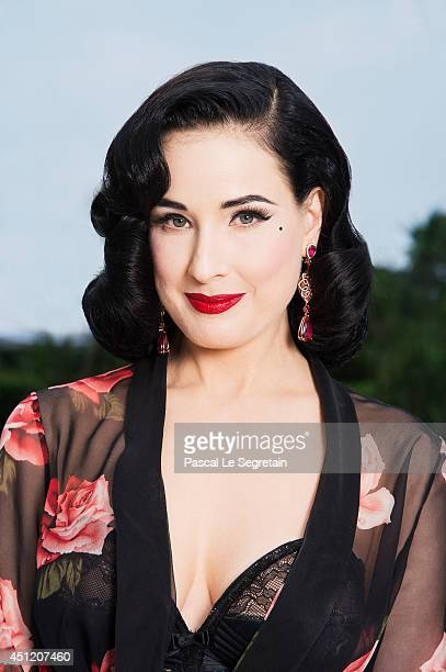 Dita Von Teese is photographed at AmfAR's 21st Cinema Against AIDS Gala on May 22 2014 in Cap d'Antibes France