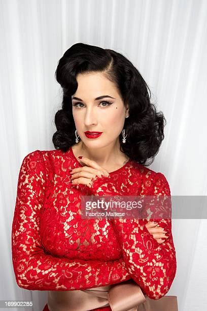 Dita Von Teese is photographed for Self Assignment on May 20 2013 in Cannes France