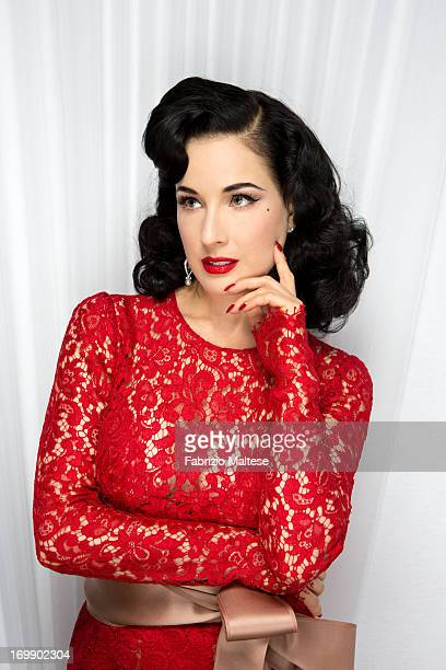 Dita Von Teese is photographed for The Hollywood Reporter on May 20 2013 in Cannes France ON INTERNATIONAL EMBARGO UNTIL AUGUST 30 2013