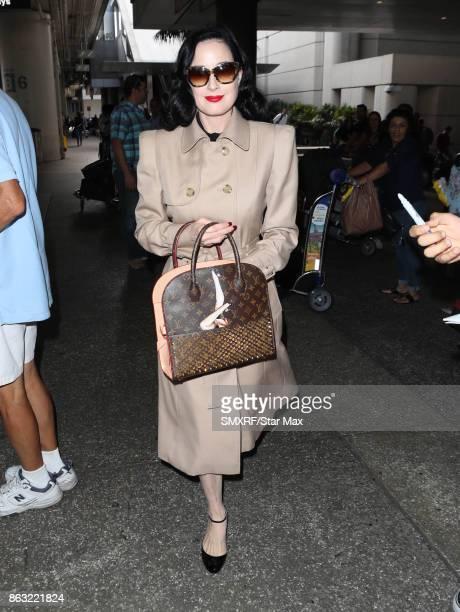 Dita Von Teese is seen on October 19 2017 in Los Angeles California